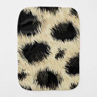 Leopard spots burp cloths