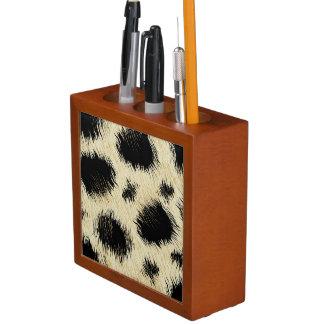 Leopard spots desk organizer