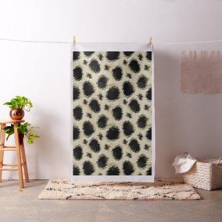 Leopard spots fur fabric