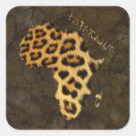 Leopard Spots Map of AFRICA Sticker Series