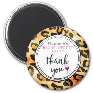 Leopard Spots Pattern Bachelorette Party Thank You Magnet