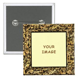 Leopard Spots Photo Frame Button
