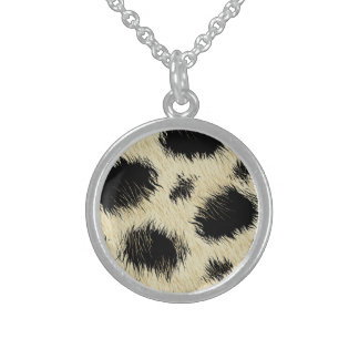 Leopard spots sterling silver necklace