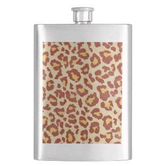 Leopard Spots Ultrasuede Look Flask