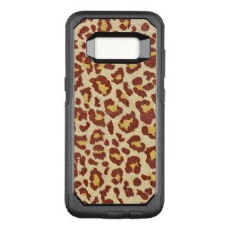 Leopard Spots Ultrasuede Look OtterBox Commuter Samsung Galaxy S8 Case
