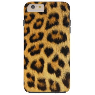 Leopard Spotted Faux Fur, African Cat Photo-sample Tough iPhone 6 Plus Case