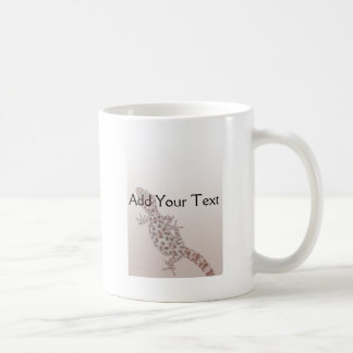 Leopard Spotted Gecko on Sand Coffee Mug