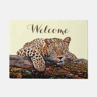 Leopard Stare Doormat