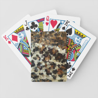 Leopard Style Brown Black Square Pattern Bicycle Playing Cards