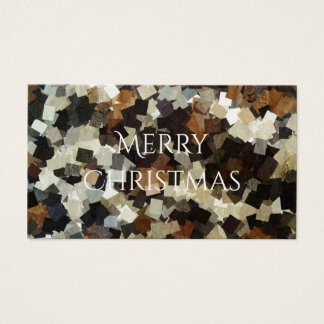 Leopard Style Brown Black Square Pattern Business Card