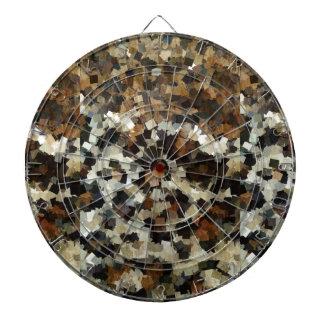 Leopard Style Brown Black Square Pattern Dartboard