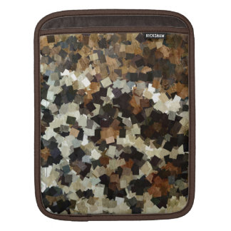 Leopard Style Brown Black Square Pattern iPad Sleeve