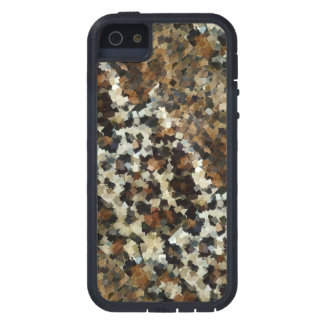 Leopard Style Brown Black Square Pattern iPhone 5 Cases