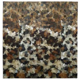 Leopard Style Brown Black Square Pattern Napkin