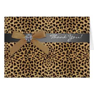 Leopard Thank You Cards