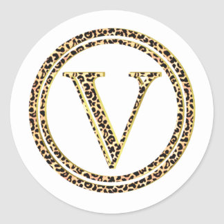 Leopard V Classic Round Sticker