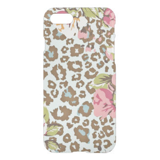 Leopard w/Floral iPhone 8/7 Clearly Deflector Case