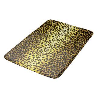 Leopard Wallpaper Faux Fur Photo Print Bath Mat