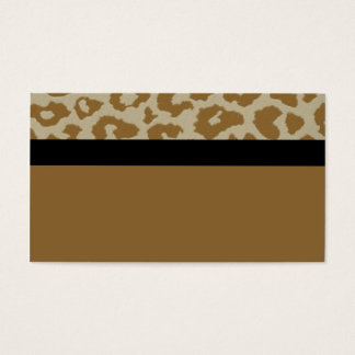 leopard with black strick bus card