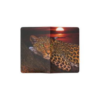 Leopard with Sunset Pocket Moleskine Notebook
