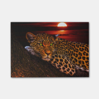 Leopard with Sunset Post-it® Notes