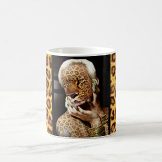 Leopard woman Photo Art Coffee Mug