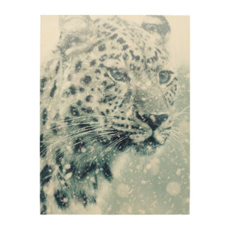 Leopard Wood Wall Decor