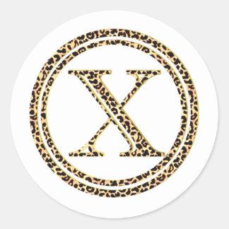 Leopard X Classic Round Sticker