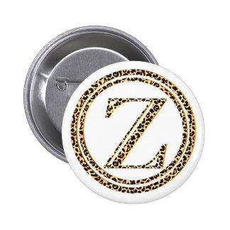 Leopard Z 2 Inch Round Button