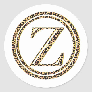 Leopard Z Classic Round Sticker
