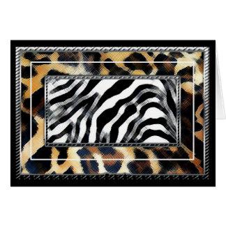Leopard Zebra Card
