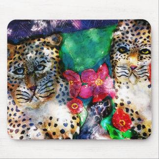 Léopards de jungle tapis de souris