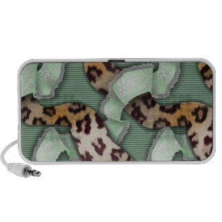 Leopards 'n Lace - green - Travel Speakers