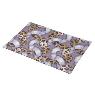Leopards 'n Lace - purple - Placemat