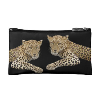 Leopards Small Cosmetic Bag 7x4 in.
