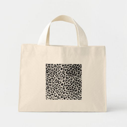 Leopard's texture (black & white) tote bags