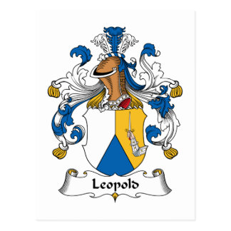 Leopold Family Crest Postcard