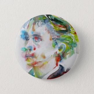 leopold von sacher masoch - watercolor portrait 2 inch round button