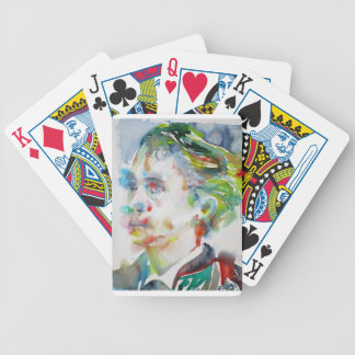 leopold von sacher masoch - watercolor portrait bicycle playing cards