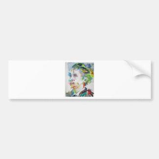 leopold von sacher masoch - watercolor portrait bumper sticker