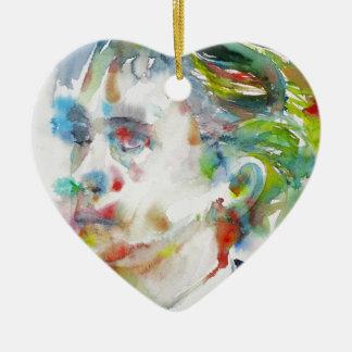 leopold von sacher masoch - watercolor portrait ceramic ornament