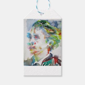 leopold von sacher masoch - watercolor portrait gift tags