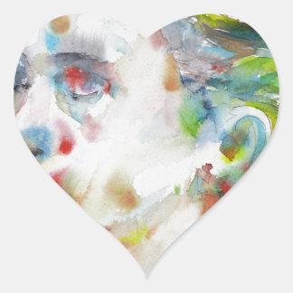 leopold von sacher masoch - watercolor portrait heart sticker