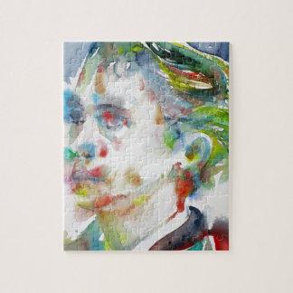 leopold von sacher masoch - watercolor portrait jigsaw puzzle