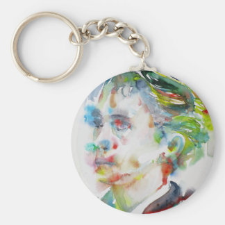 leopold von sacher masoch - watercolor portrait keychain