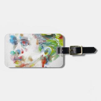 leopold von sacher masoch - watercolor portrait luggage tag