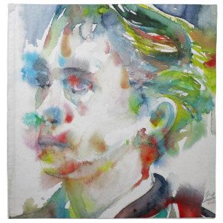 leopold von sacher masoch - watercolor portrait napkin