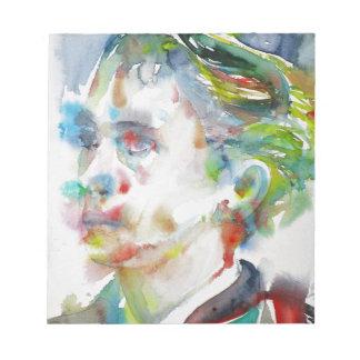 leopold von sacher masoch - watercolor portrait notepad