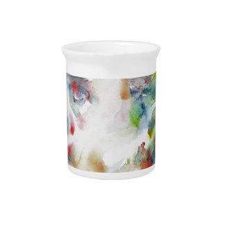 leopold von sacher masoch - watercolor portrait pitcher