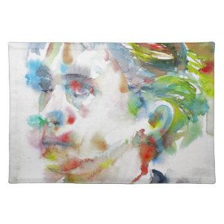 leopold von sacher masoch - watercolor portrait placemat